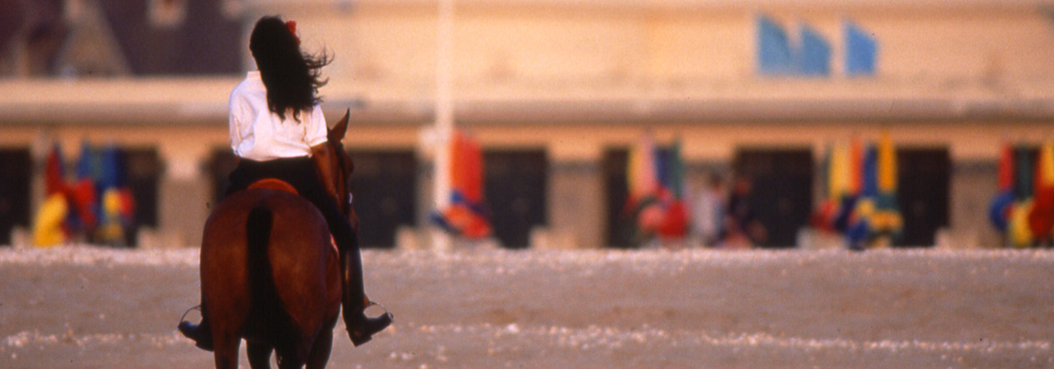 Balade à cheval sur la plage de Deauville