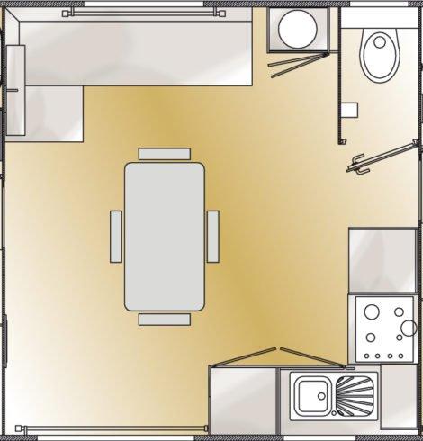 Plan du Mobil-home Prestige 2 chambres