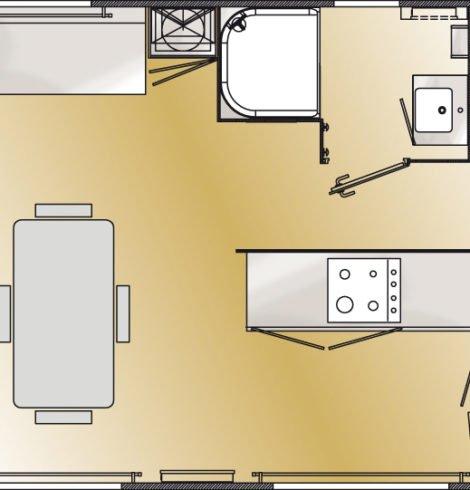 Plan Mobil-home Prestige 3 chambres