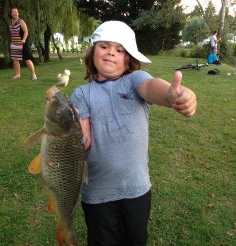 Camping Normandie avec étang de pêche